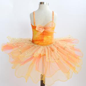 Orange & Yellow Velvet Romantic Style Tutu
