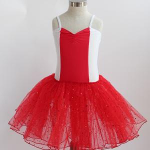 White & Red Romantic Style Tutu